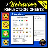 Behavior Reflection Sheets