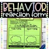 Behavior / Behaviour Reflection Student Tool