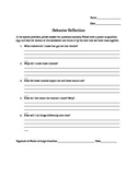 Behavior Reflection Template