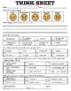 Special Education Behavior Reflection: Think Sheet