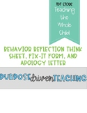 Behavior Think Sheet and Fix-It Form