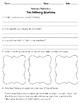 Behavior Reflections Packet