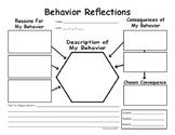 PBIS Behavior Reflections Report