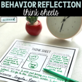 Behavior Reflections | Think Sheets