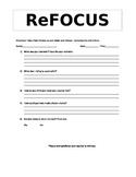 Behavior Refocus Form