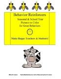 Behavior Reinforcers: Seasonal & School Pictures to Color for Great Behaviors