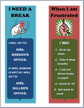 Behavior Reminder Cards
