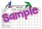 Behavior Report Card - Marvel Super Hero