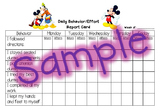 Behavior Report Card - Mickey Mouse