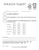 Behavior Report English and Spanish, Family Parent Communication