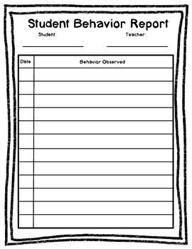 Behavior Report--FREE