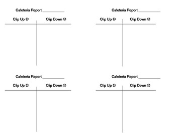 Behavior Reports Clip Up/Clip Down