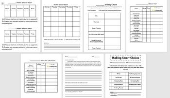 Behavior Reports and Reflections {EDITABLE} *BUNDLE*