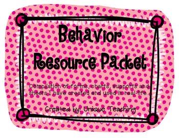 Behavior Resource Packet