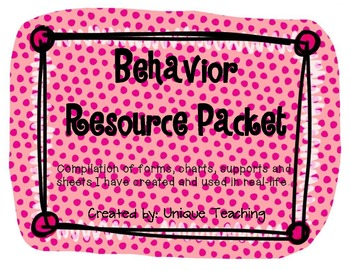 Behavior Resource Packet