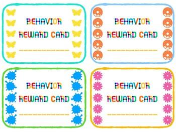 Behavior Reward Cards