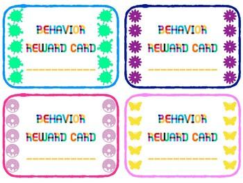Behavior Reward Cards - CLASS SET