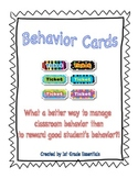 Behavior Reward Cards