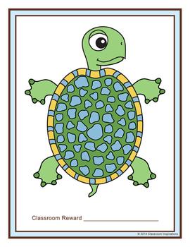 Behavior Reward Chart for Classroom - Turtle Time Classroom Theme
