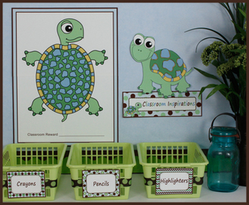 Behavior Reward Chart for Classroom - Turtle Time Classroom Theme