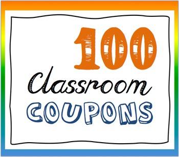 Behavior Reward Coupons (100) for Classroom Management (PBIS)