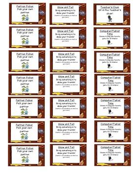 Behavior Reward Coupons Pirate Theme- small version
