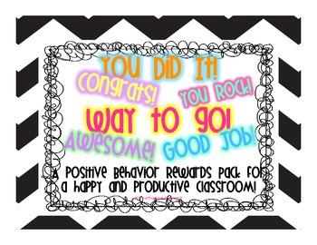 Behavior Reward Pack with Coupons!