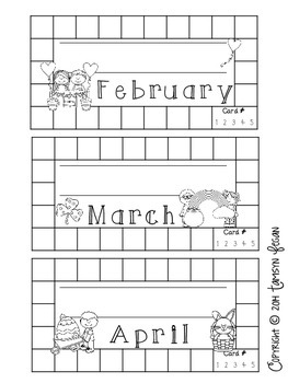 Behavior / Reward Punch Card (BLACK AND WHITE)