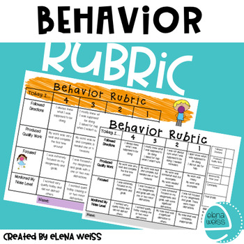 Behavior Rubric