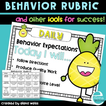 Behavior Rubric and Other Tools