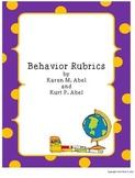 Behavior Rubrics