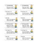 Behavior Rules Desk Chart