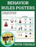 Behavior Rules Posters With Visuals - Social Skills - Self-help Skills