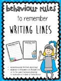 Behavior Rules Writing Lines
