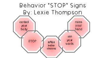 """Behavior """"STOP"""" Signs"""