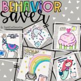 Behavior Saver Anchor Charts and Reward System
