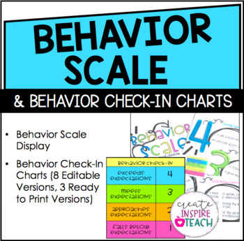 Behavior Scale and Check-In Charts