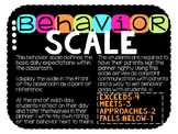 Behavior Scale for Classroom Expectations