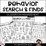 Behavior Search and Find Activities- Back to School