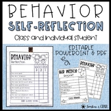 Behavior Self-Reflection ❘ Class and Individual
