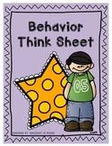 Behavior Sheet