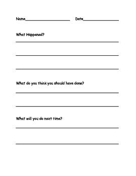 Behavior Sheet-Free