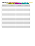 Behavior Sheet Log (Fillable)