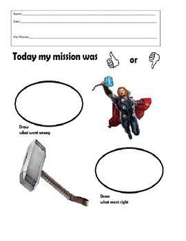 Behavior Sheet- Thor - Think Sheet