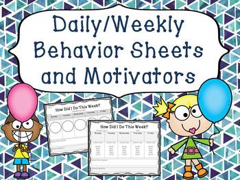 Behavior Sheets and Motivators