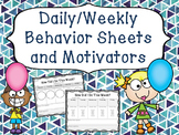 Behavior Sheets and Motivators