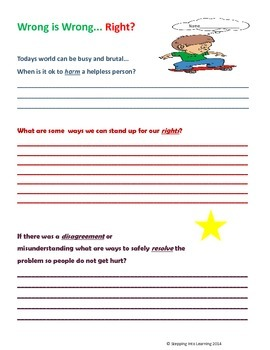 Behavior Skills Speech Poster