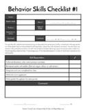 Behavior Skills Checklist #1