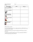 Behavior Skills Checklist