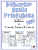 Behavior Skills Printables for Students with Autism & Similar Special Needs
